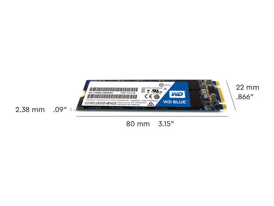 WD 1TB WD BLUE 3D NAND SATA SSD, WDS100T2B0B, Solid State Drive