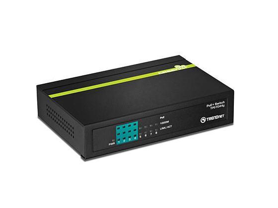 TRENDnet 8-port GREENnet Gigabit PoE+ Switch (4 PoE+, 4 Non-PoE),Limited Lifetime Warranty, TPE-TG44G, Ethernet Switch