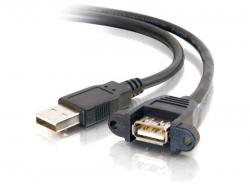 C2G 3FT USB 2.0 AM TO AF PANEL MOUNT CABLE, 28064, Data Transfer Cable