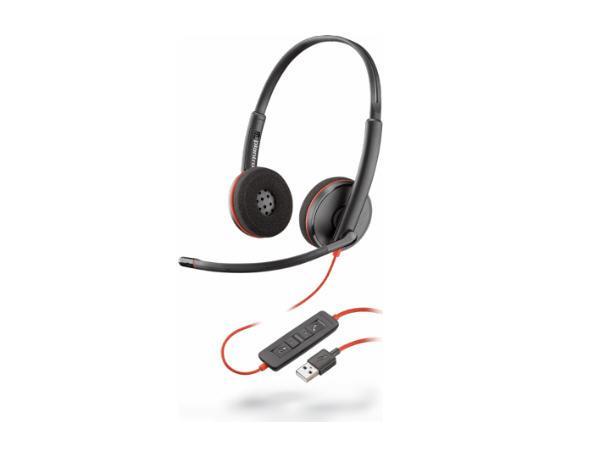 Plantronics BLACKWIRE,C3220 USB-A,BLACK, 209745-104, Headset