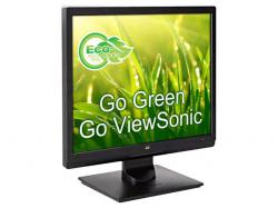 Viewsonic 17IN LED monitor, 5:4 aspect ratio, 1280x1024 resolution, sRGB Color Correction Technology, VGA inputs with Fast Reponses Time, VESA mountable., VA708A, LCD Monitor
