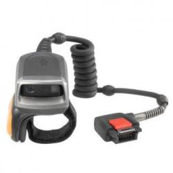 Zebra RS50, ENABLE YOUR WORKERS WITH HANDS-FREE SCANNING OF 1D AND 2D BARCODES    IN YOUR WAREHOUSE, DISTRIBUTION CENTER OR RETAIL STORE WITH THE RS5000  SINGLE FINGER CORDED IMAGER RING SCANNER., RS5000-LCBSWR, Wearable Barcode Scanner
