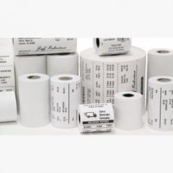 Zebra Receipt, Paper, 4in x 574ft (101.6mm x 175m); DT, Z-Perform 1000D 2.4 mil, Uncoated, 1in (25.4mm) core, 574/roll, 6/box, 10010058, Receipt Paper