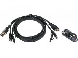 IOGEAR 10 Ft. DVI, USB KVM Cable Kit with Audio (TAA), G2L703UTAA3