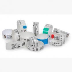 Zebra HC100, Wristband, Synthetic, 1x11in (25.4x279.4mm); DT, Z-Band Ultra Soft, Coated, Permanent Adhesive, cartridge, 10015355K, Thermal Label