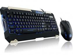 Thermaltake Commander, KB+MSE Retail Package,USB Interface,1000HZ Polling Rate, KB-CMC-PLBLUS-01, Keyboard & Mouse
