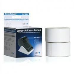 Seiko Labels - White - 1.1 in x 3.5 in - for SLP400, 200, & 100 series, SLP-EZ30 and Dymo Labelwriter 300 & 400 series., SLP-2RL, Printer labels