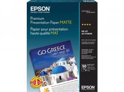 Epson Matte Paper Heavyweight (8.5x11)(50 ct)(Bilingual), S041257, Inkjet Paper