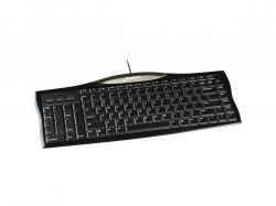 Evoluent Reduced Reach Right-Hand Keyboard - Cable Connectivity - USB Interface - Compatible with Unix, Linux, Windows - Undo, Cut, Copy, Paste, Email, My Computer, Previous Page, Play, Next Page, Vol, R3K
