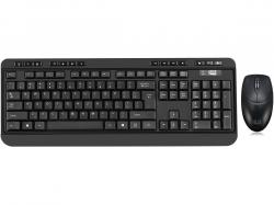 Adesso Antimicrobial Wireless Desketop keyboard & mouse combo, WKB-1320CB