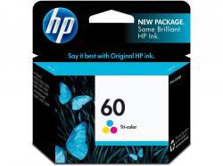 HP 60 TRI-COLOUR INK CART 2PK, CC643WN#140-2PK, Printer Consumable