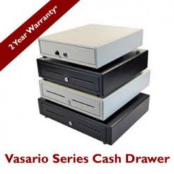 APG Cash Drawer Vasario Cash Drawer (Painted Front with Dual Media Slots, USB Hid. Class End Node Interface, 16 Inch x 16 Inch) - Color: Black, VB554A-BL1616
